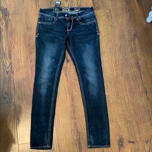 Buckle black jeans